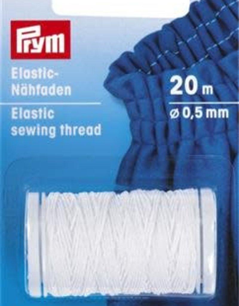 Prym ELASTISCH NAAIGAREN 0,5mm WIT 20m
