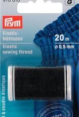Prym ELASTISCH NAAIGAREN 0,5mm ZWART 20m