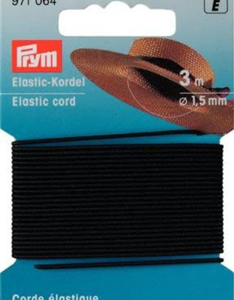 Prym ELASTISCHE KOORD 1,5mm ZWART 3m