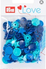 Prym LOVE COLOR DRUKKNOP STER 12,4mm BL/TU/INKT(30)