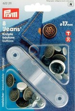 Prym JEANSKNOPEN 17mm OUDMESSING 8st