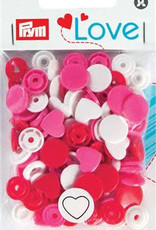 Prym LOVE COLOR DRUKKNOP HART 12,4mm RO/WI/FUC (30)