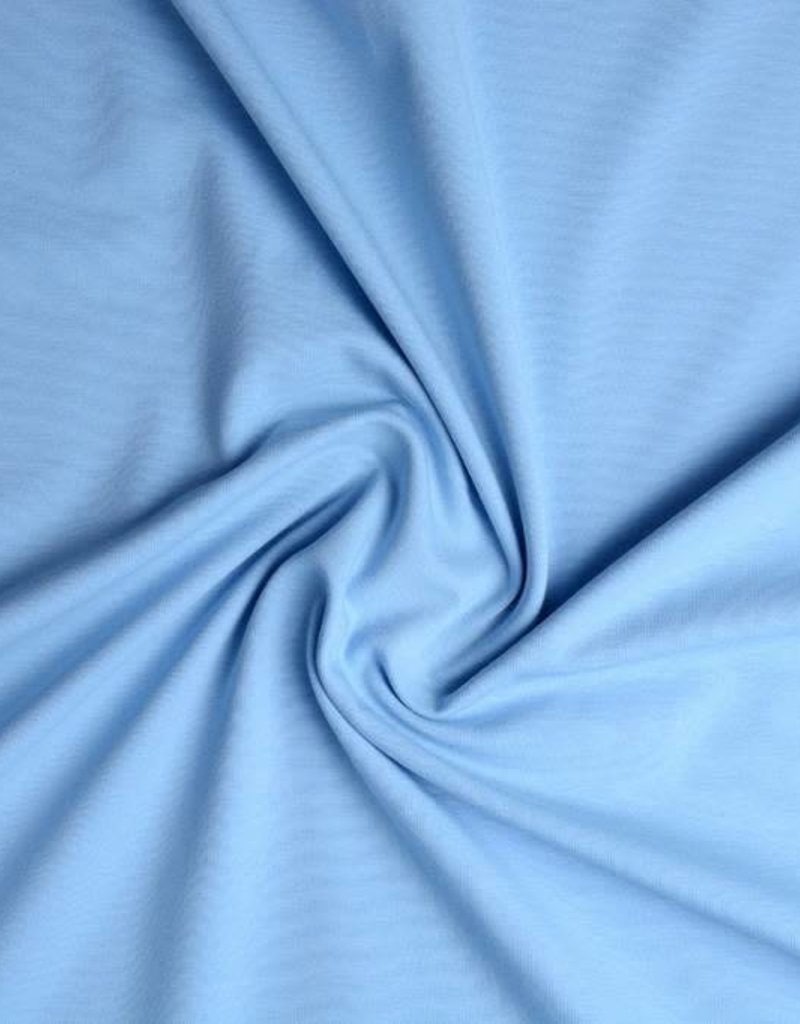 Tricot katoen uni baby blauw