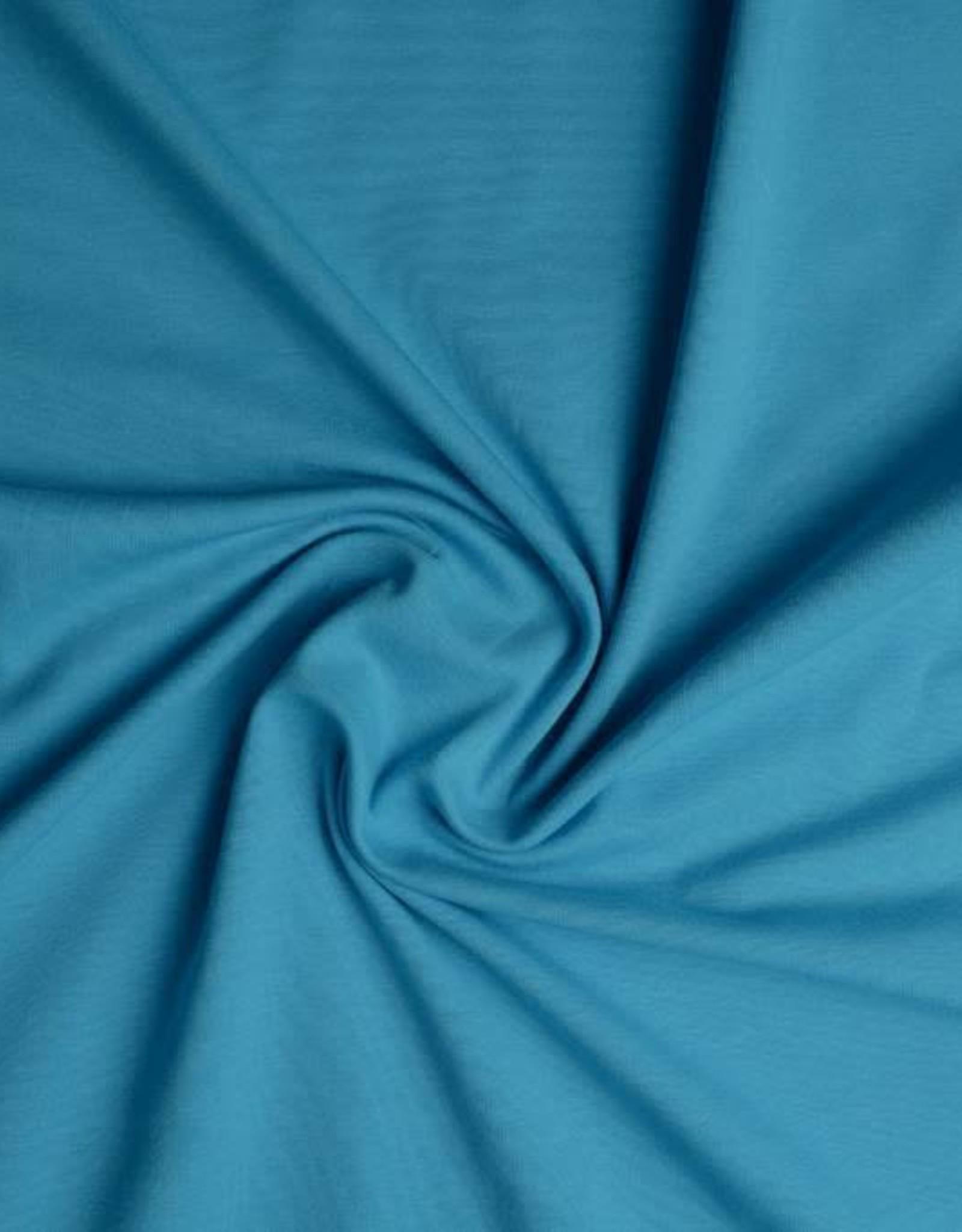 Tricot katoen uni aqua blauw