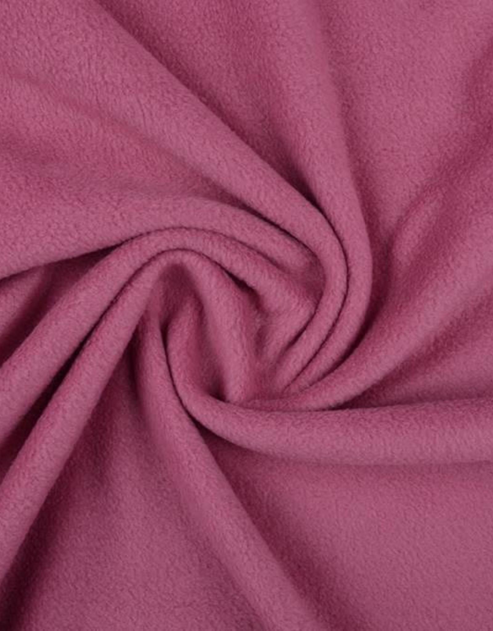 Polar fleece uni oud roze