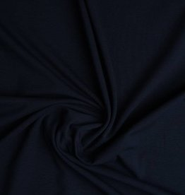Tricot katoen uni marine blauw