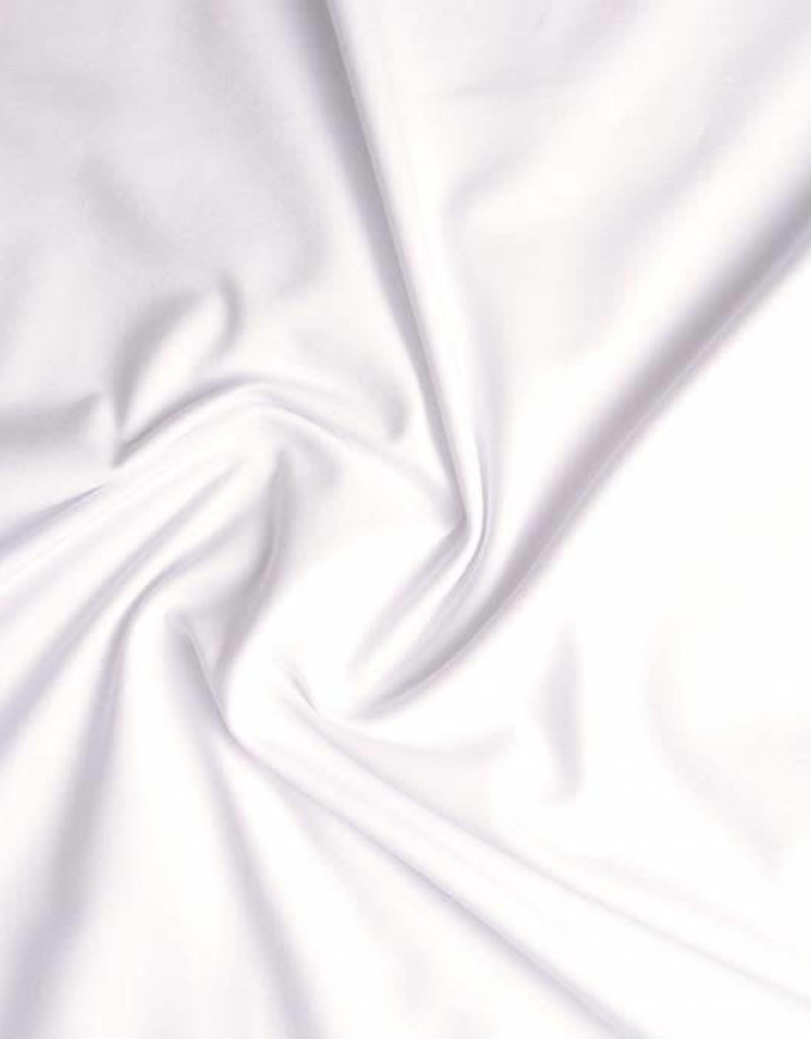 Tricot katoen uni wit