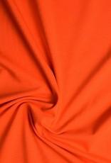 Tricot katoen uni oranje