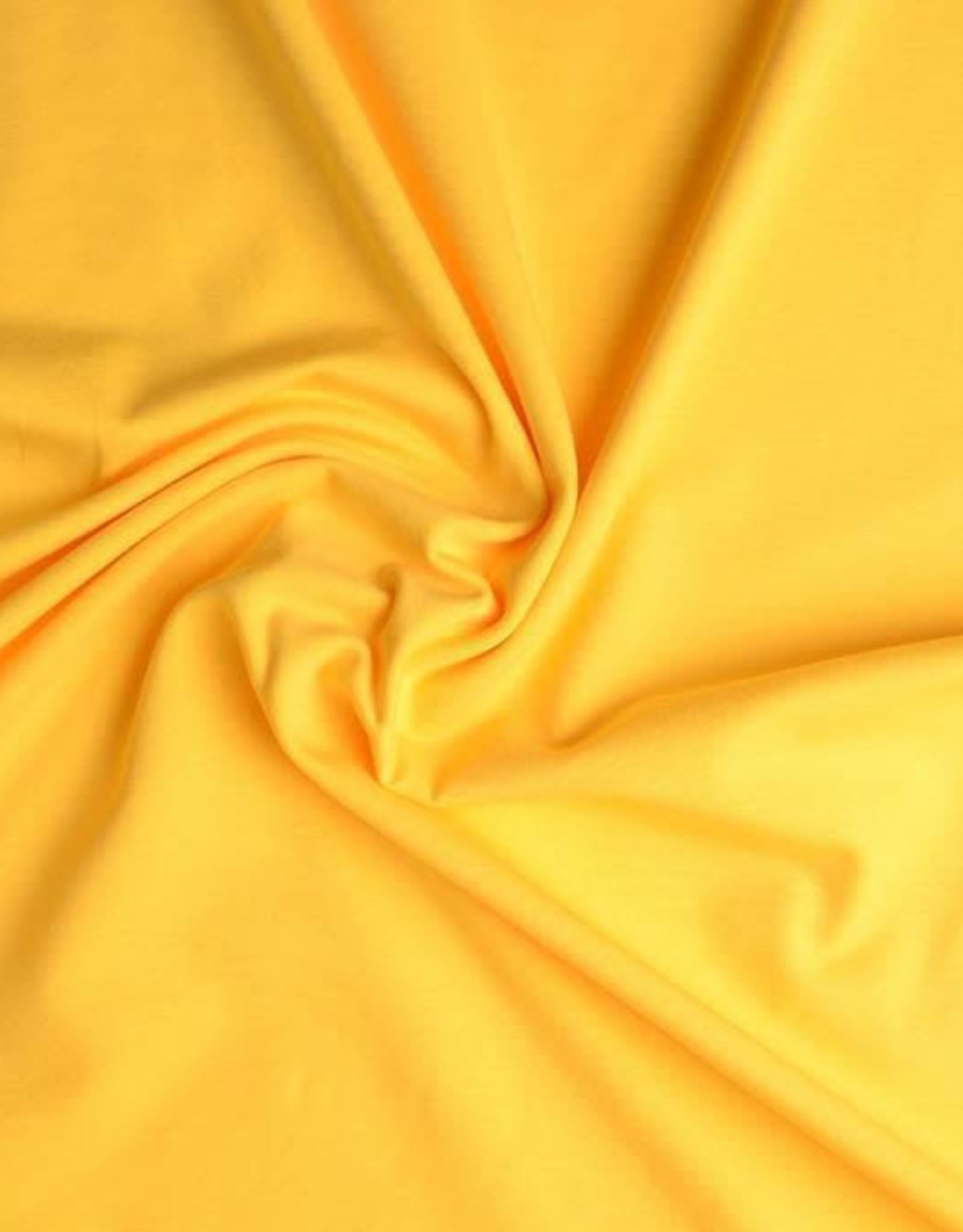 Tricot katoen uni geel