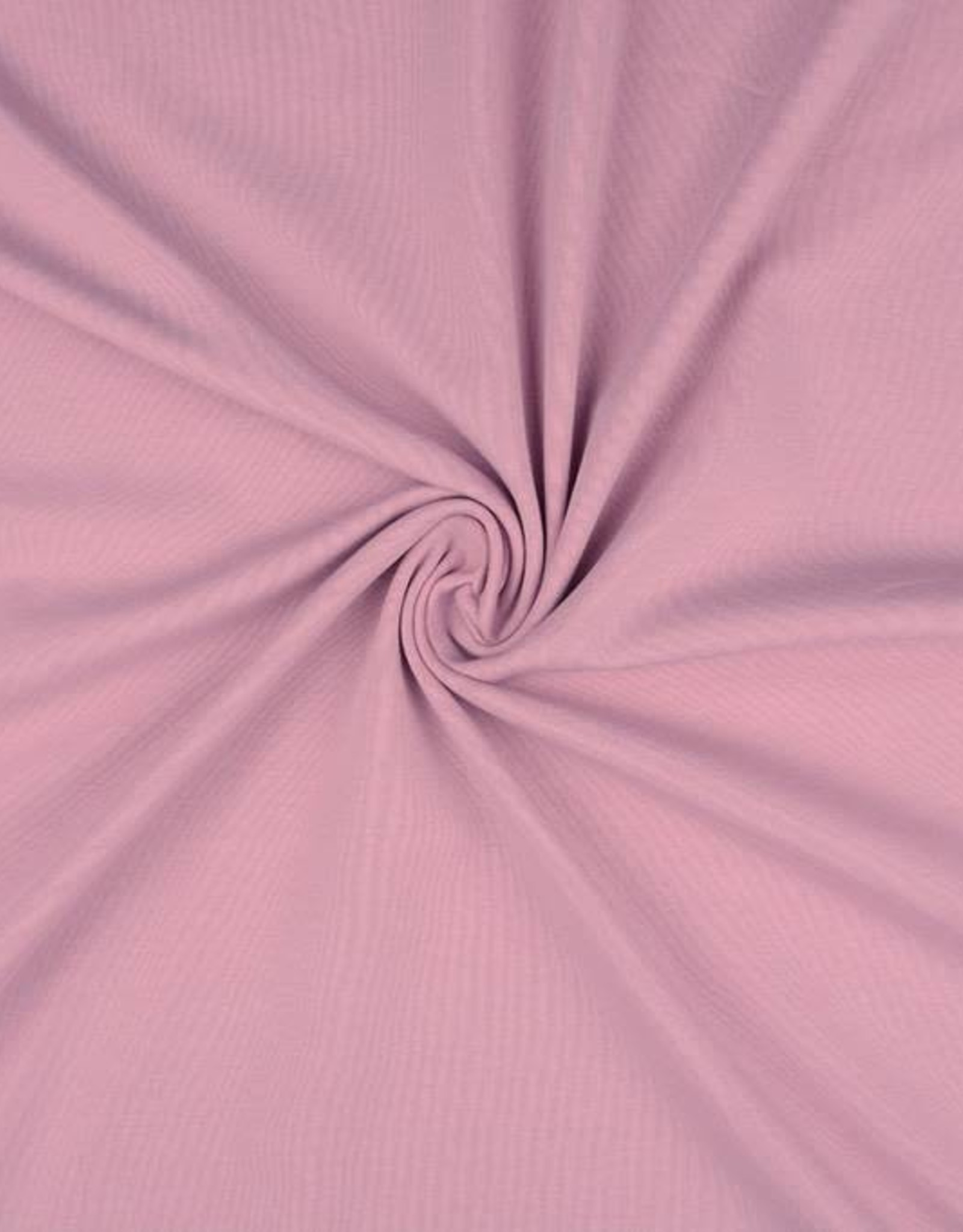 Tricot katoen uni poeder roze