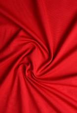 Tricot katoen uni rood