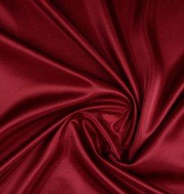 Charmeuse voering donker rood