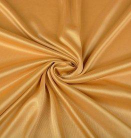 Charmeuse voering donker goud