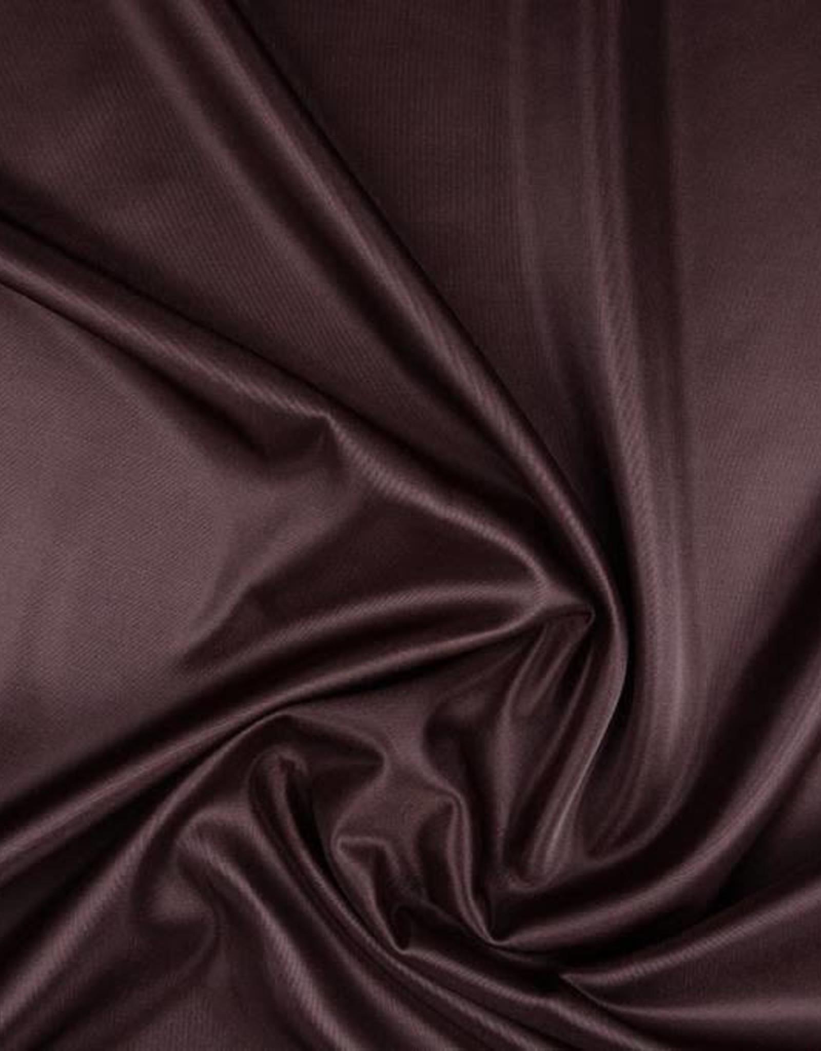 Charmeuse voering donker bruin
