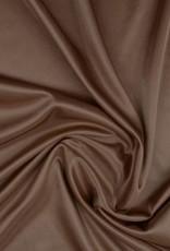 Charmeuse voering mokka bruin