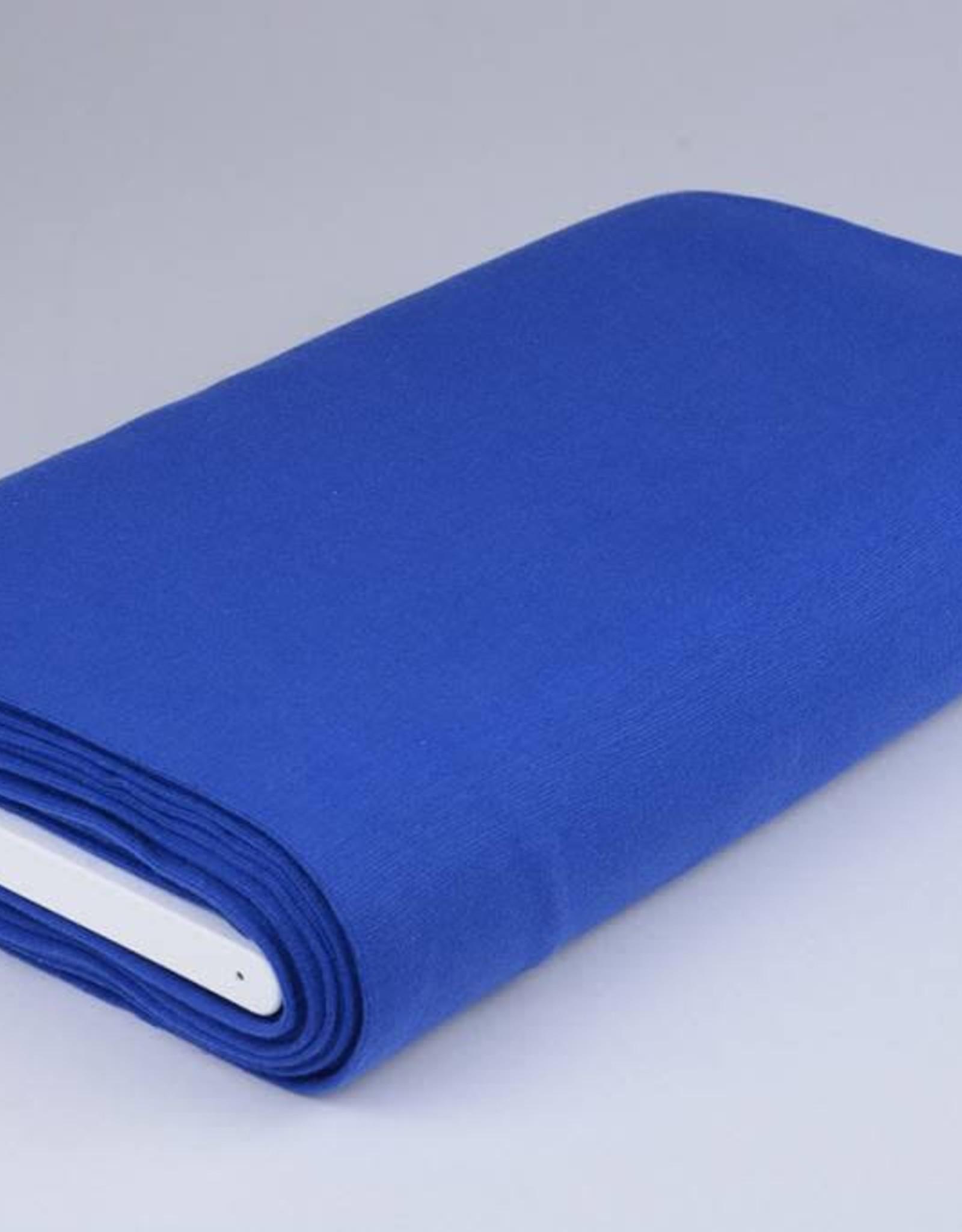 Boordstof uni kobalt blauw