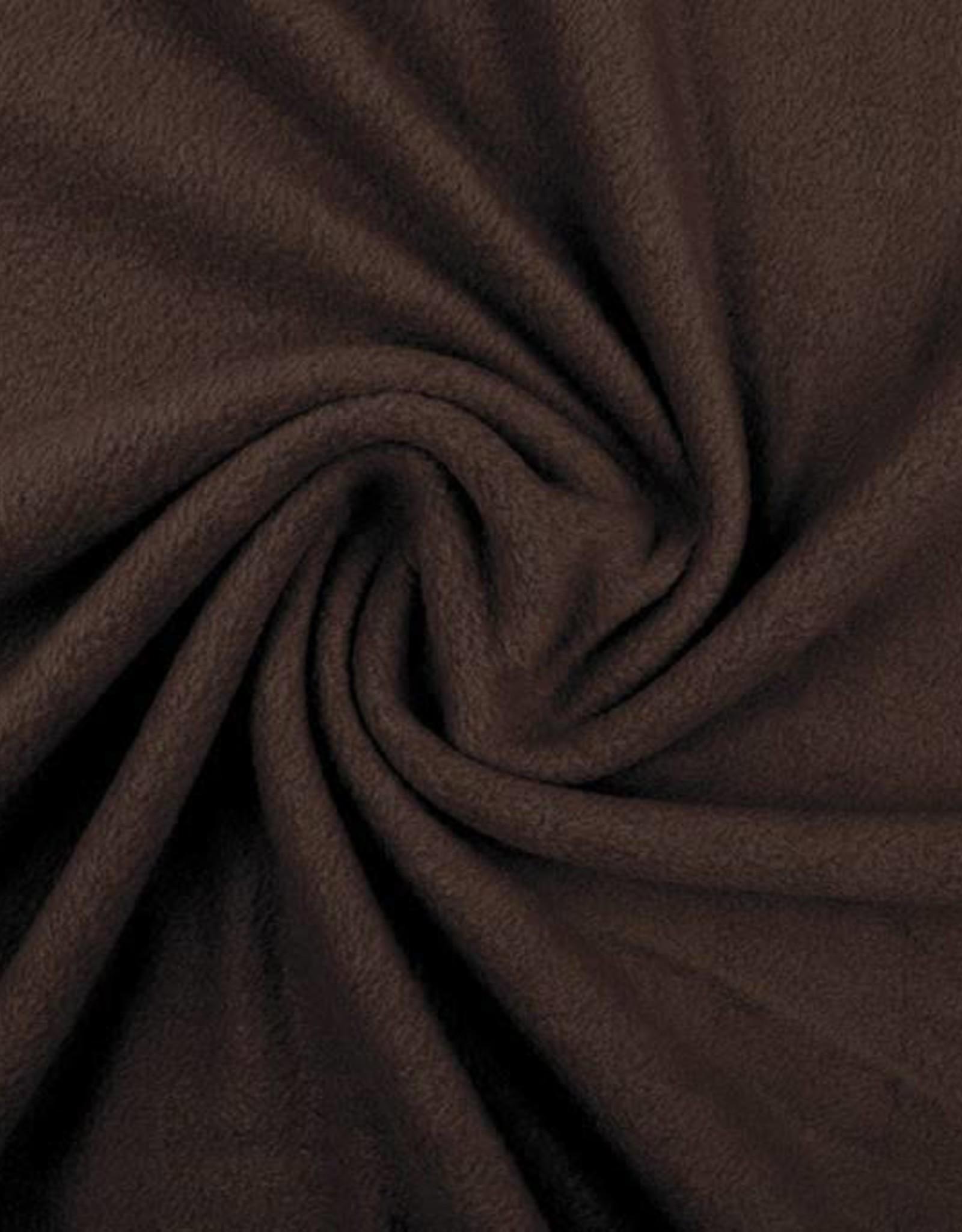 Polar fleece uni donker bruin