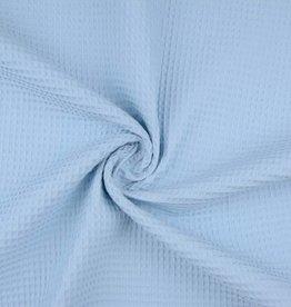Wafeldoek uni baby blauw