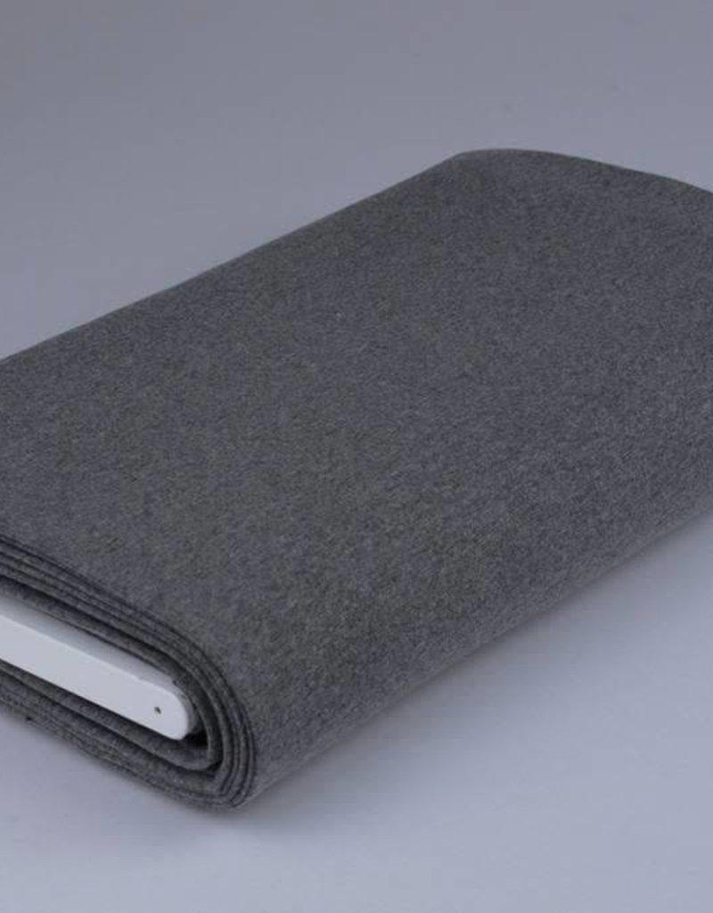 Boordstof uni grijs