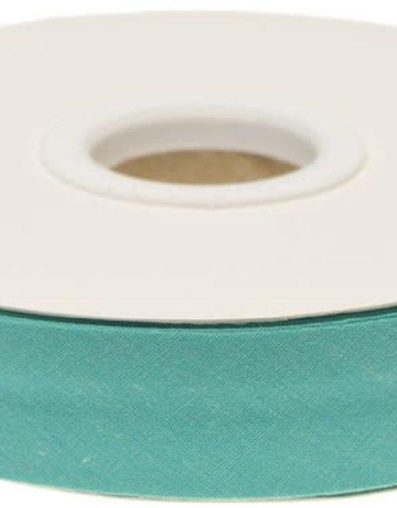 Biaisband 20mm gevouwen appelblauwzeegroen