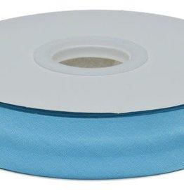 Biaisband 20mm gevouwen aqua blauw