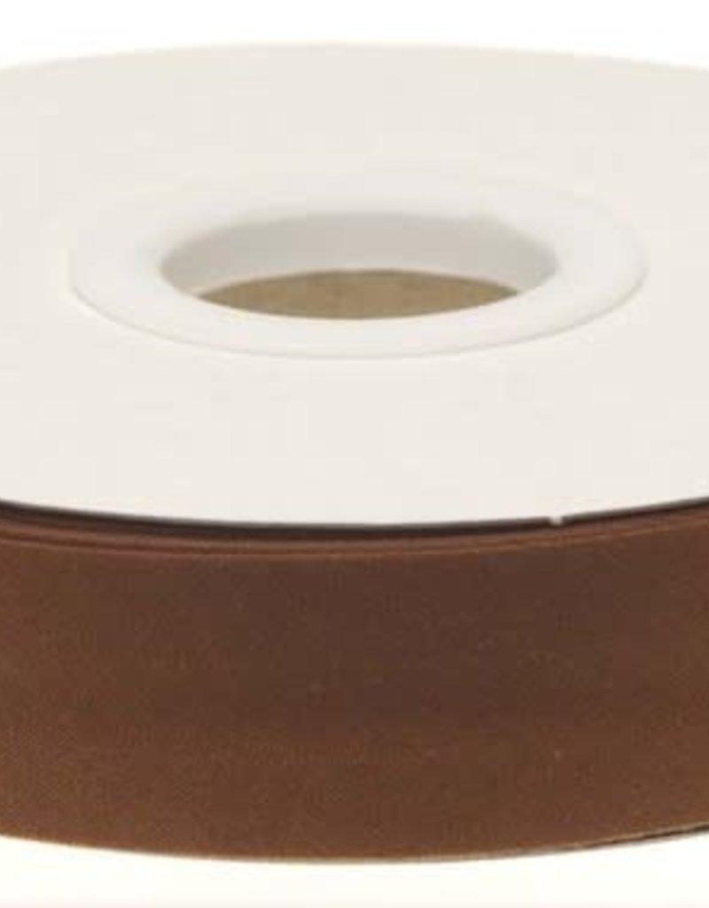 Biaisband 20mm gevouwen bruin