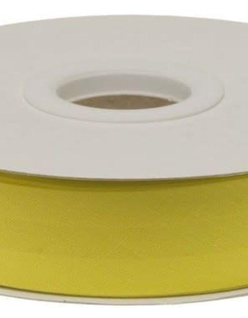 Biaisband 20mm gevouwen citroen geel