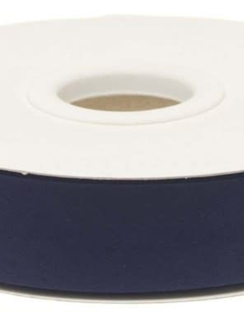 Biaisband 20mm gevouwen donker blauw