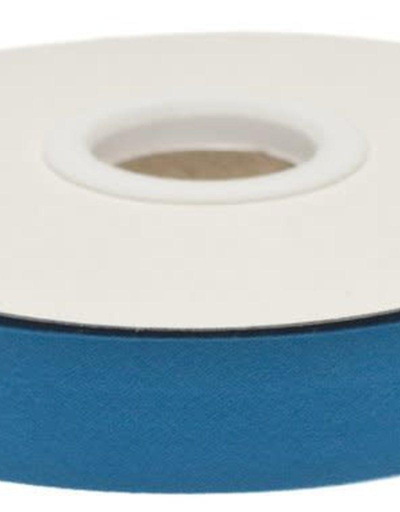 Biaisband 20mm gevouwen donker petrol