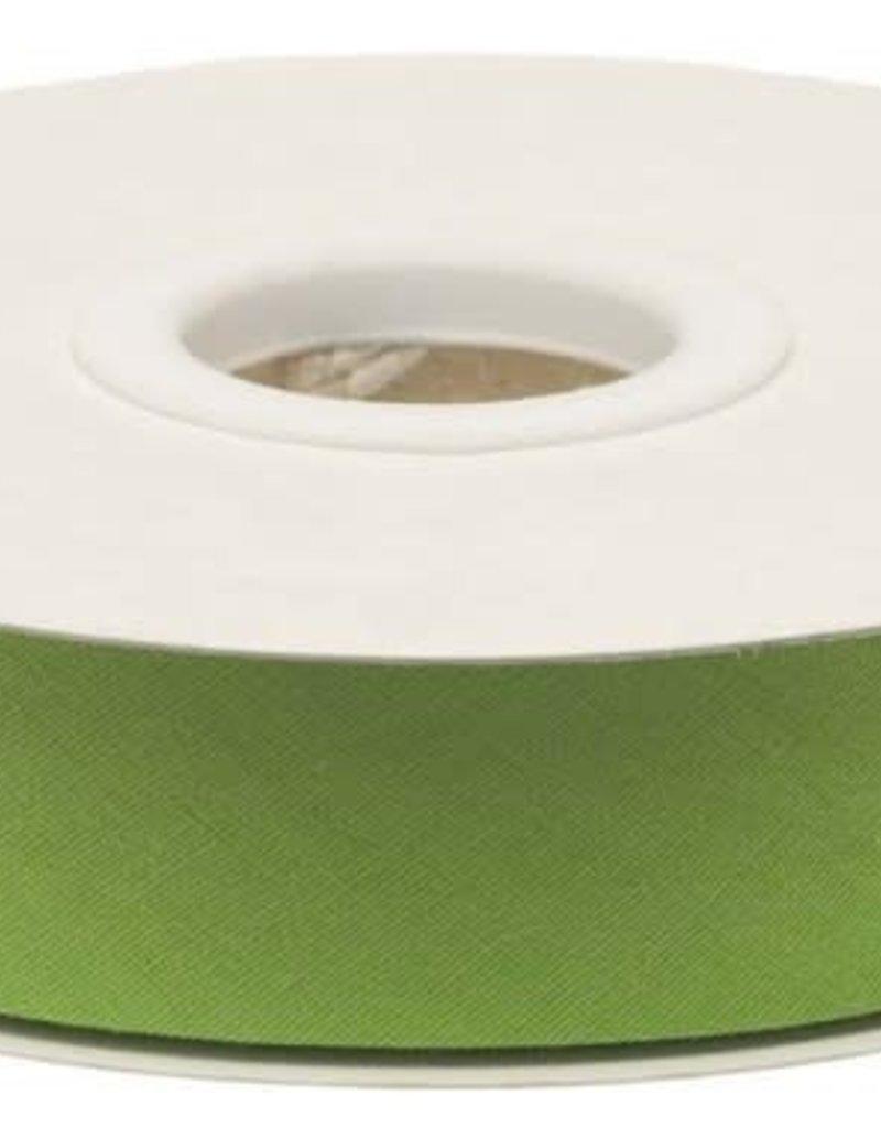 Biaisband 20mm gevouwen gifgroen