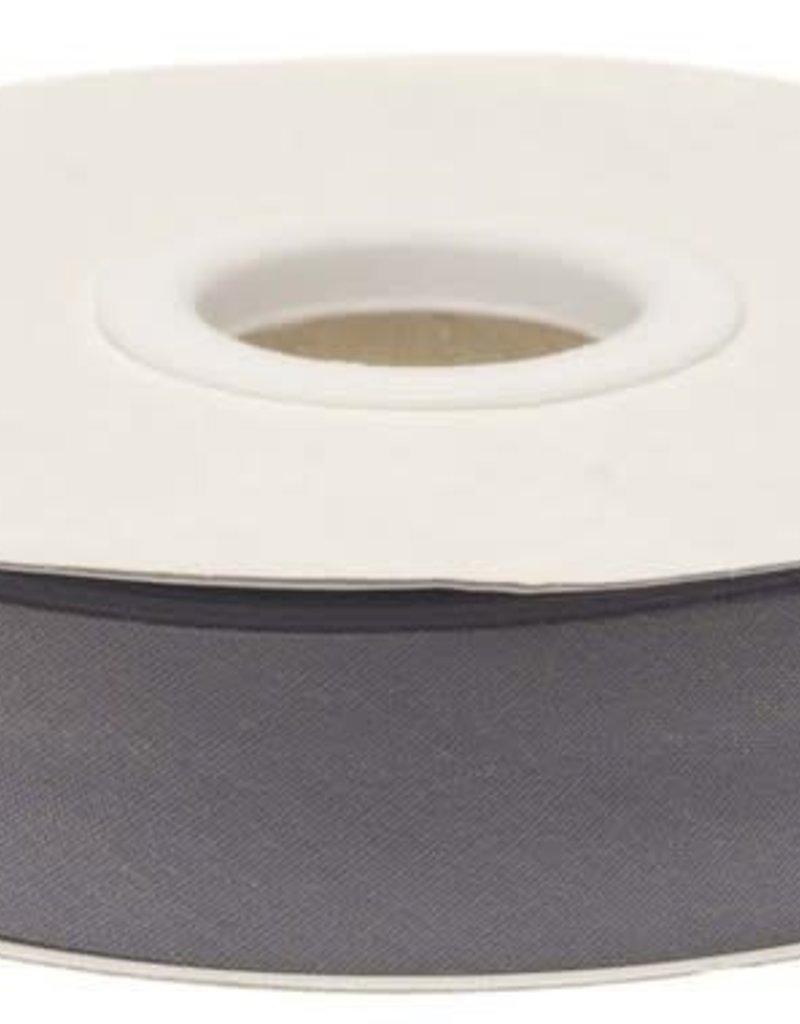 Biaisband 20mm gevouwen grijs