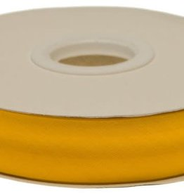 Biaisband 20mm gevouwen oker geel