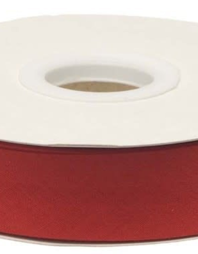 Biaisband 20mm gevouwen rood