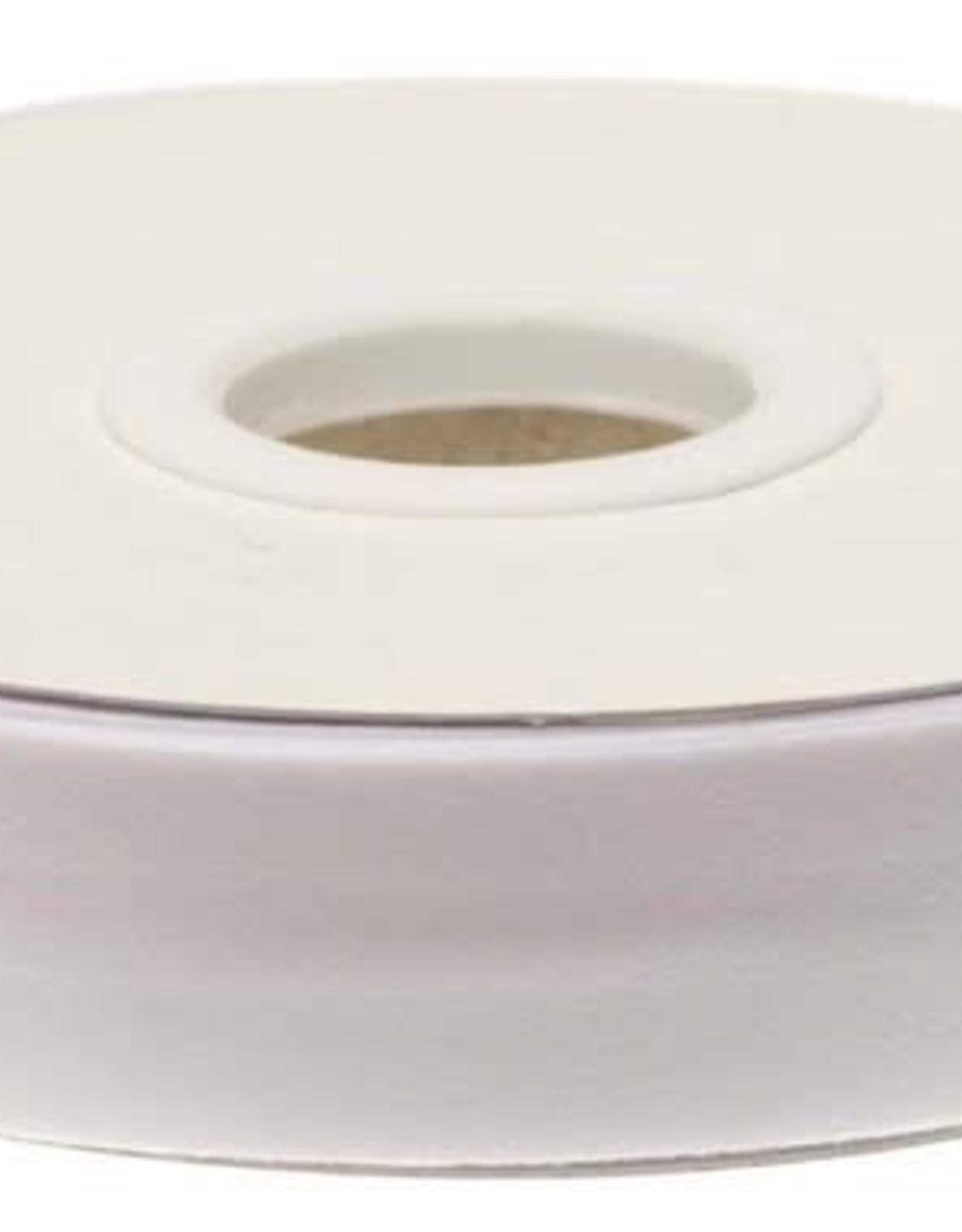 Biaisband 20mm gevouwen wit