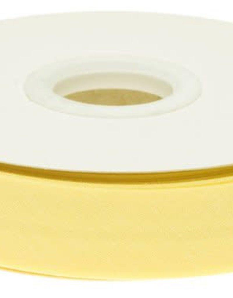 Biaisband 20mm gevouwen zacht geel