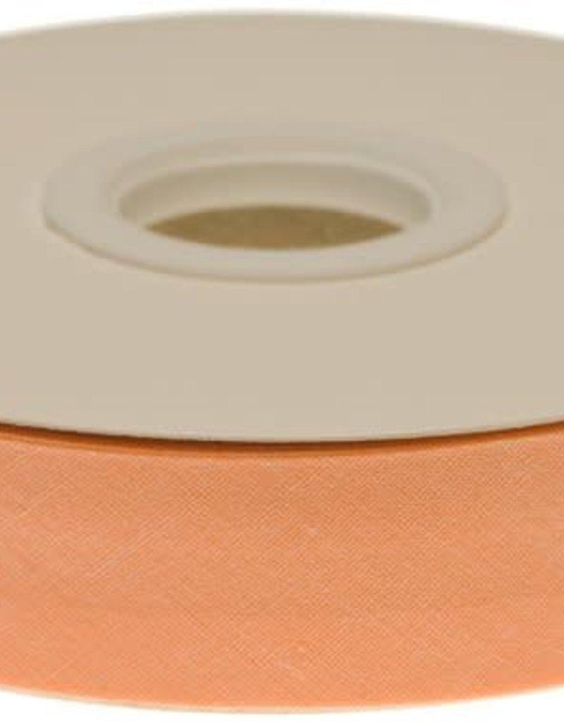 Biaisband 20mm gevouwen zalm