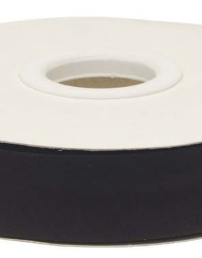 Biaisband 20mm gevouwen zwart