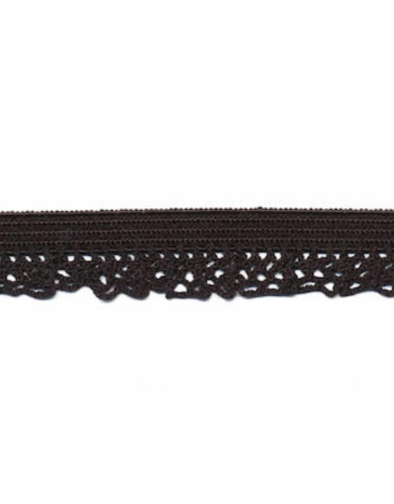 Kant elastisch 12mm zwart