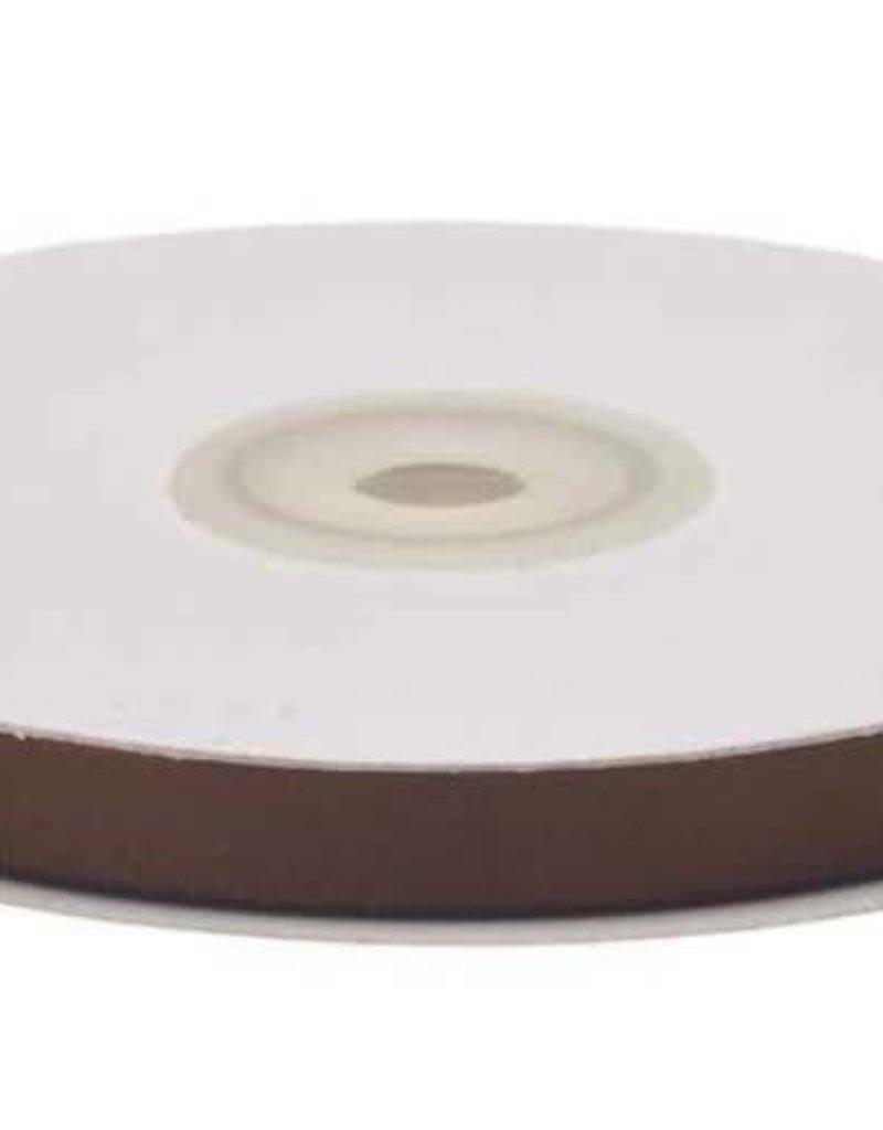 Satijnband 10mm bruin