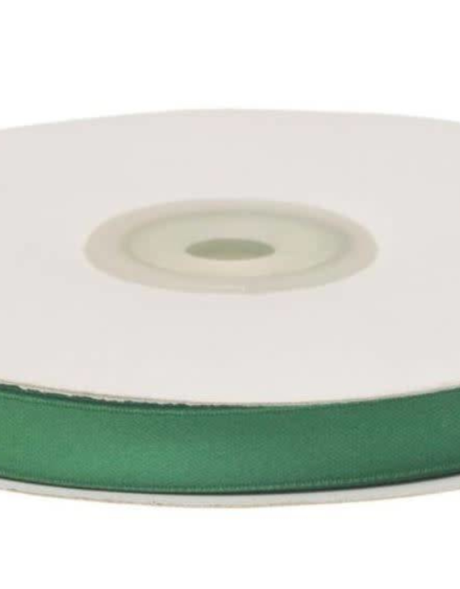 Satijnband 10mm donker groen