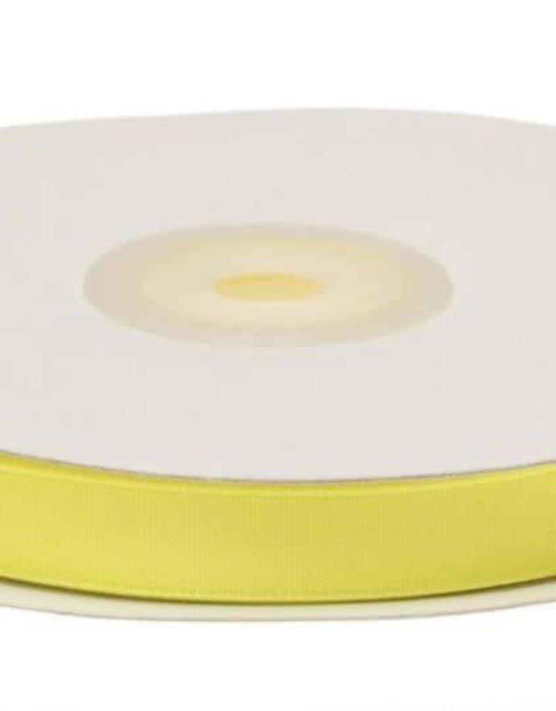 Satijnband 10mm geel