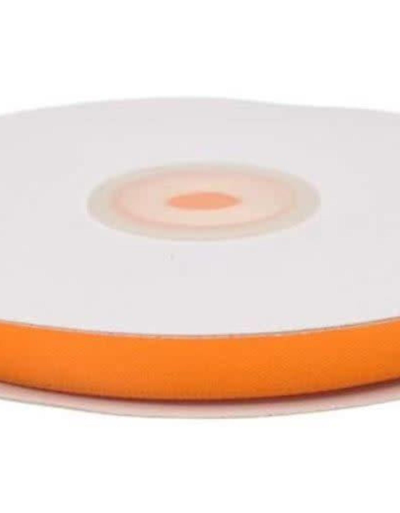 Satijnband 10mm neon oranje