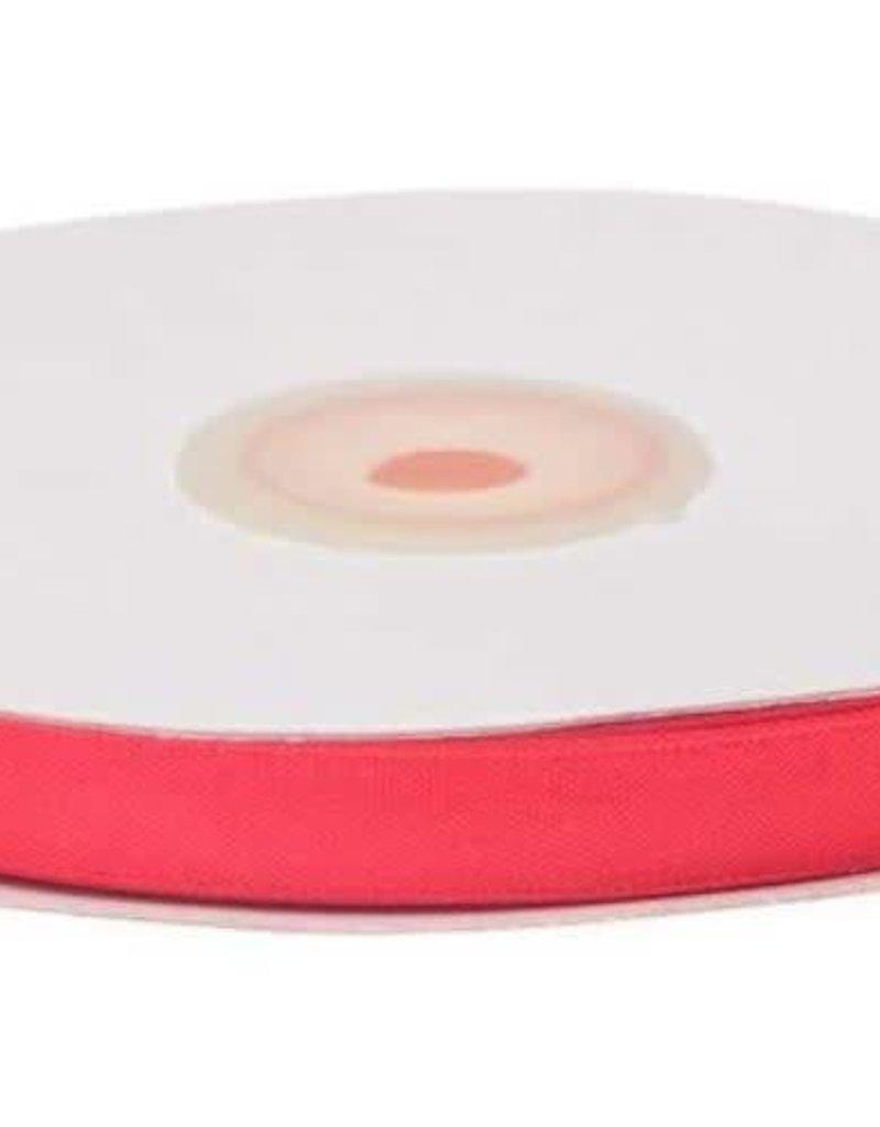 Satijnband 10mm neon roze