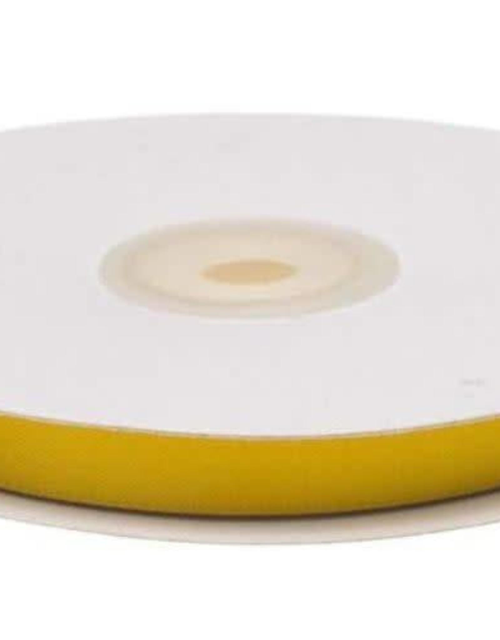 Satijnband 10mm oker geel