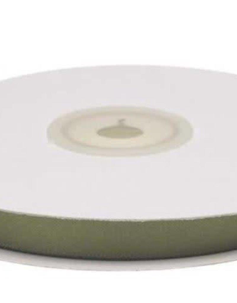 Satijnband 10mm olijfgroen