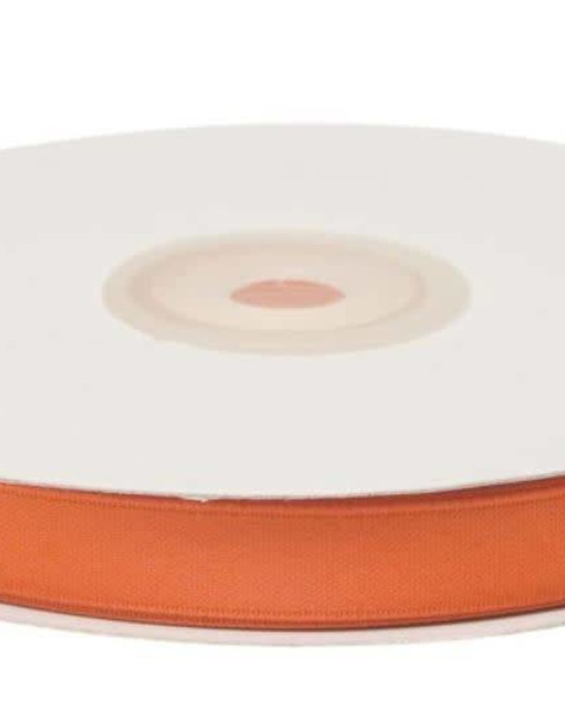 Satijnband 10mm oranje