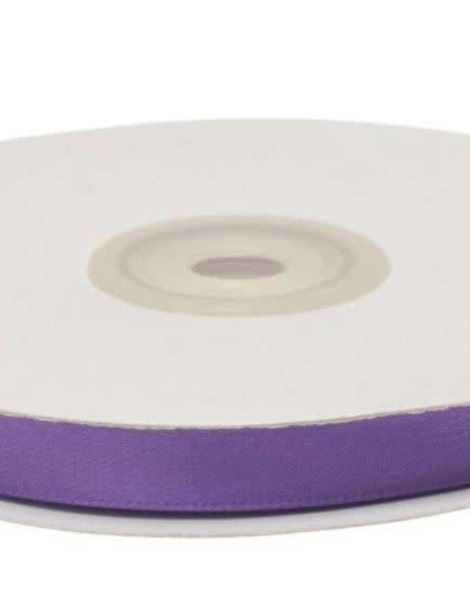 Satijnband 10mm paars