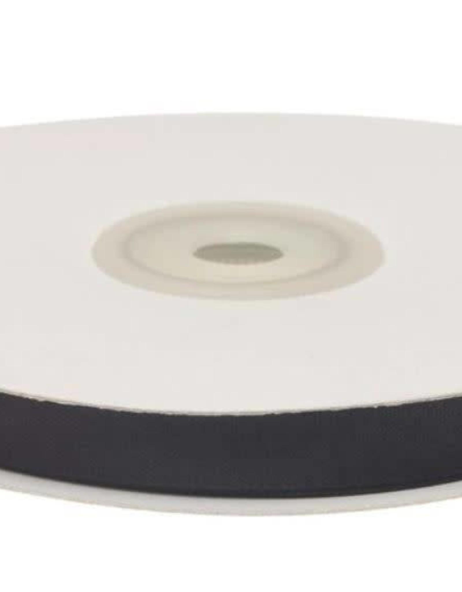 Satijnband 10mm zwart