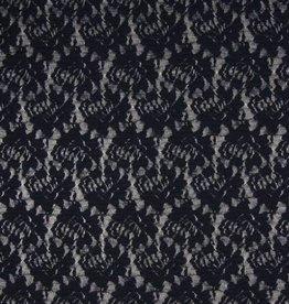 Lace kant pleat marine blauw