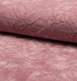 Nylon cord creased oud roze